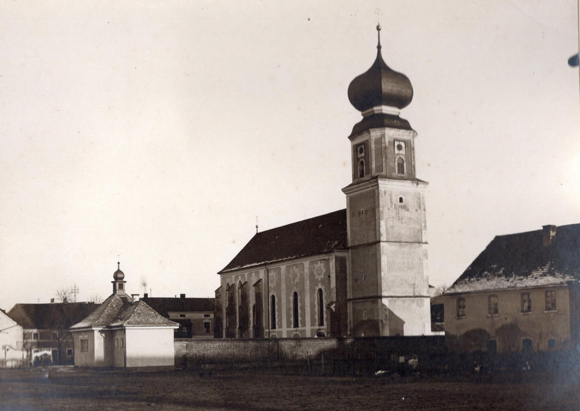 Pocking Pfarrkirche außen ca 1915