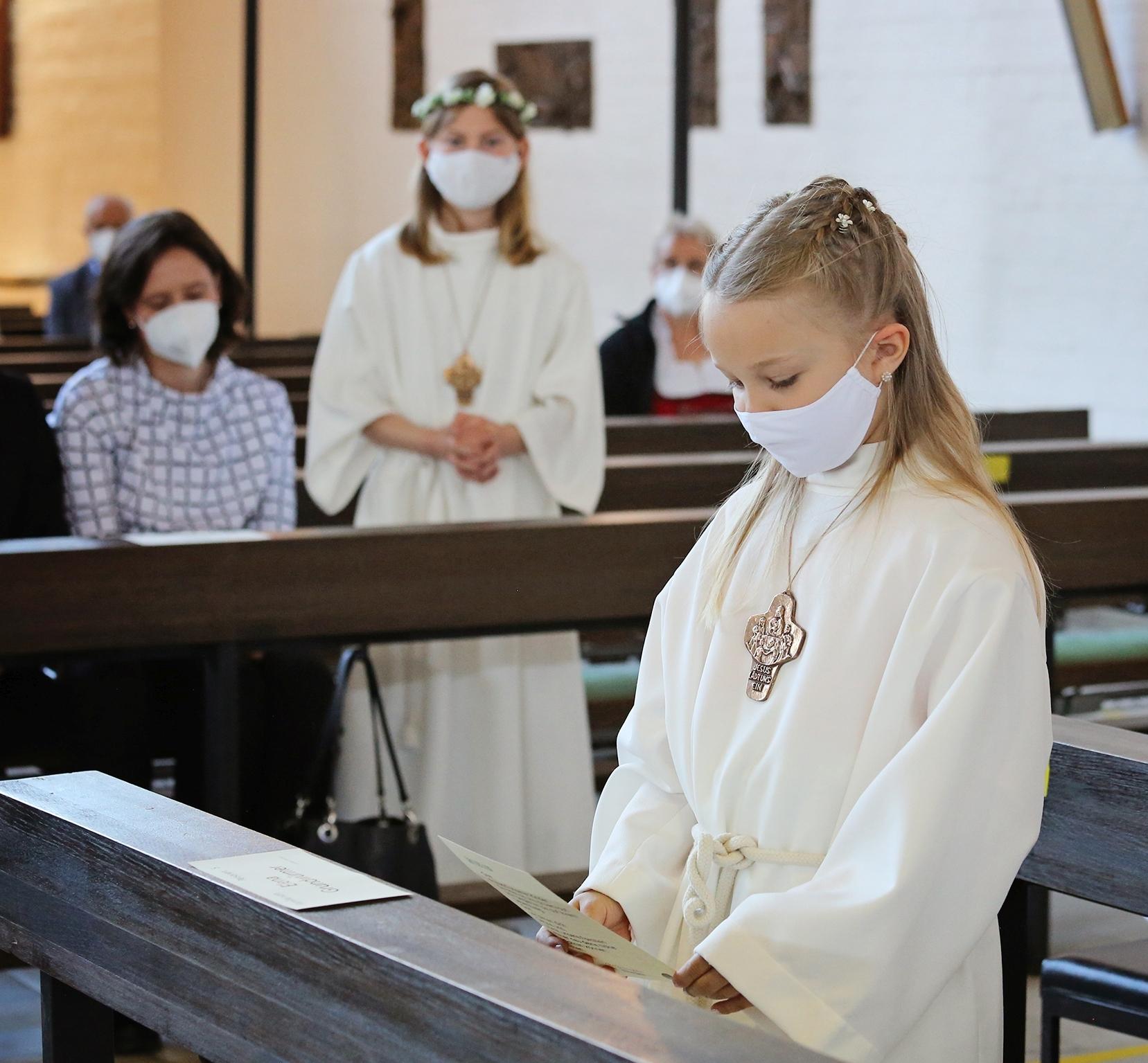 2021 Erstkommunion 1 Dankgebet Dreifaltigkeit