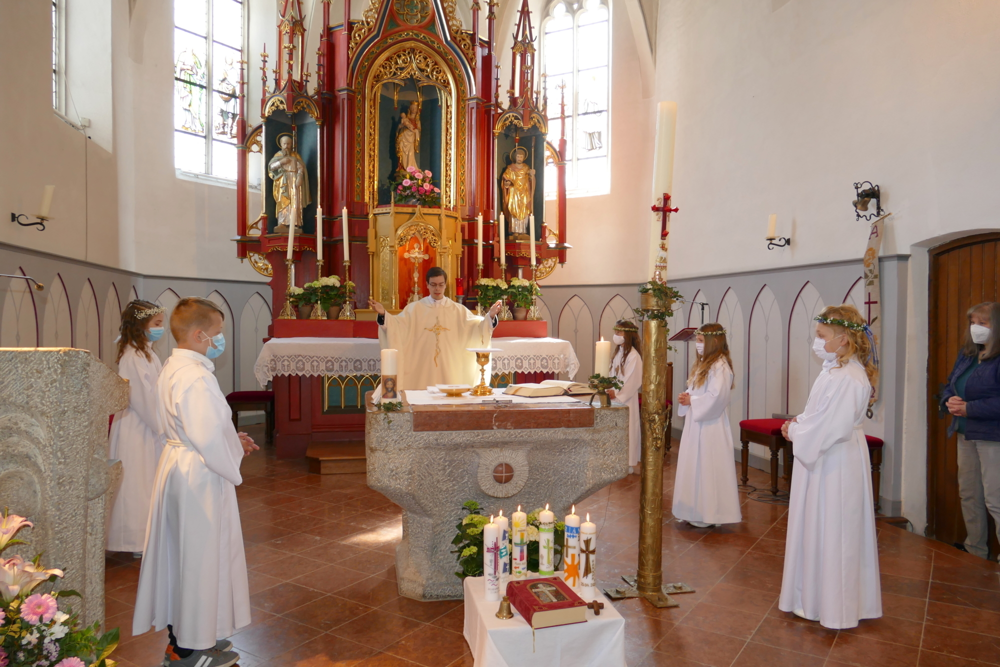 2021 Erstkommunion 14 Vaterunser Wittibreut
