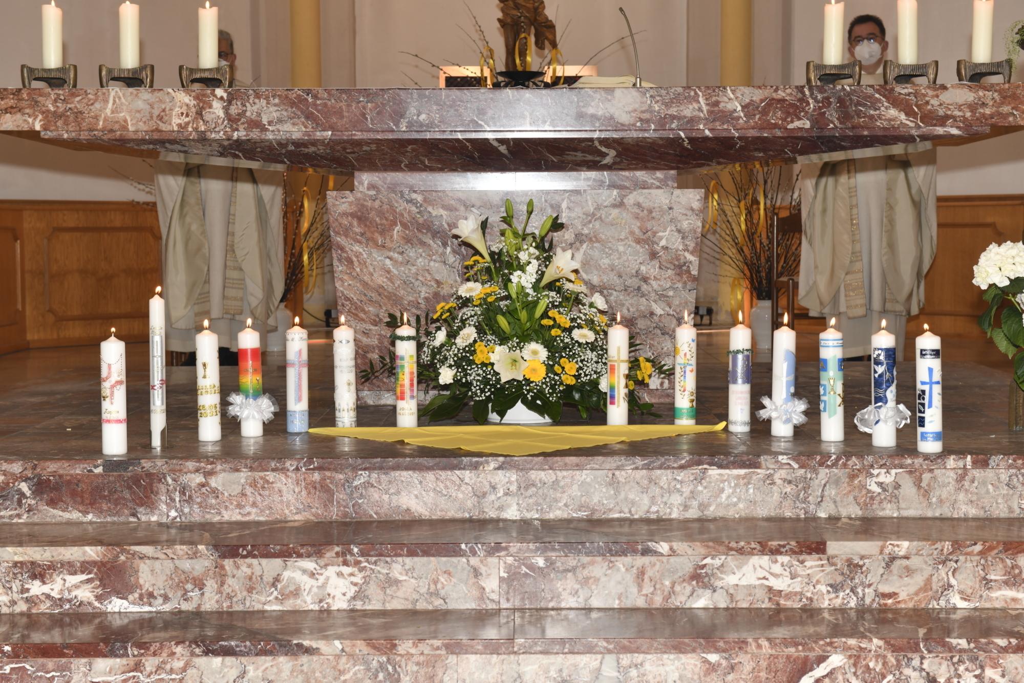 2021 Erstkommunion 5 Kommunionkerzen St Marien