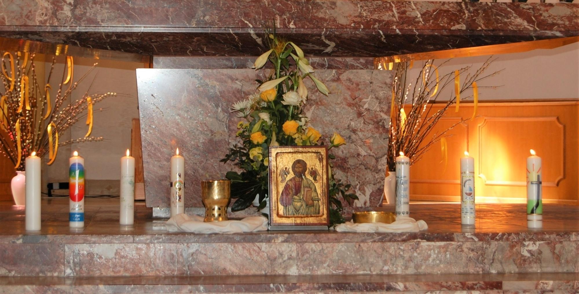 2021 Erstkommunion 7 Kommunionkerzen St Marien