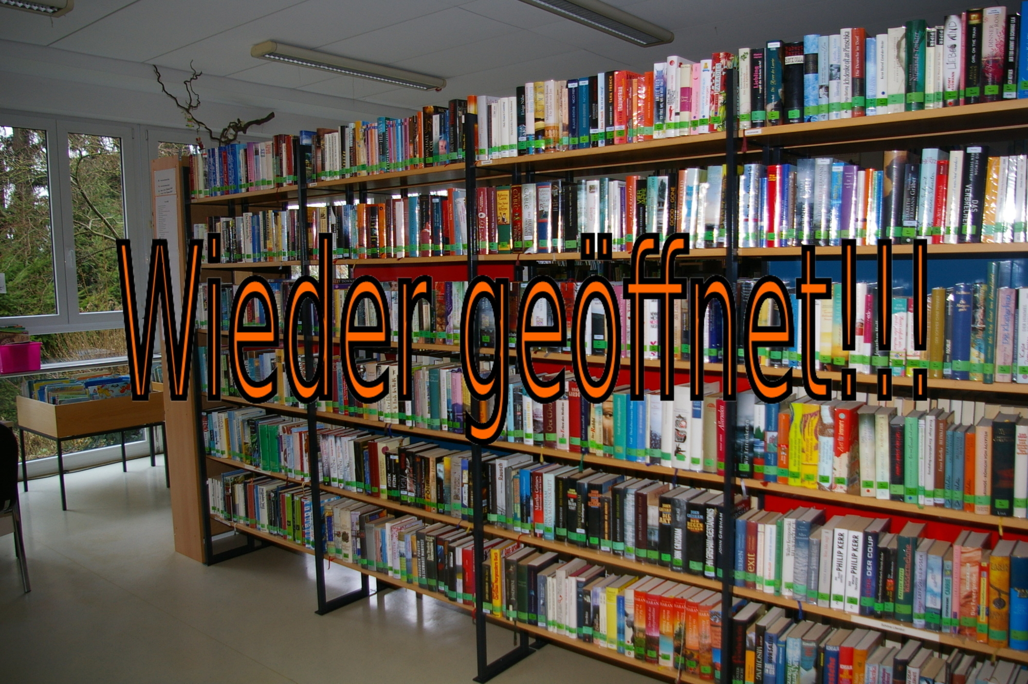 Bücherei wieder geöffnet 3