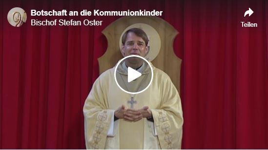 Bischof an Kommunionkinder