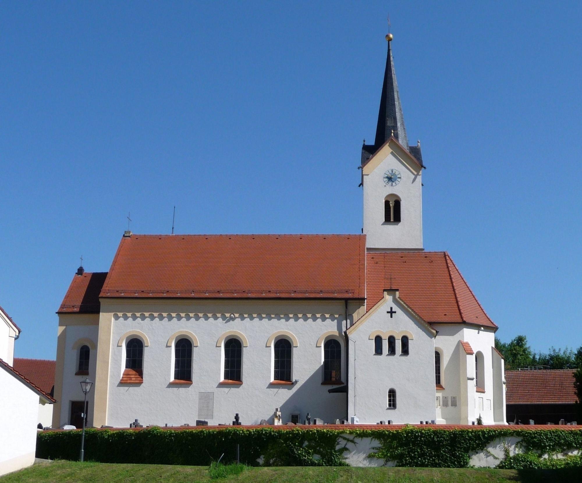 Pfarrkirche Erlbach Oberbayern