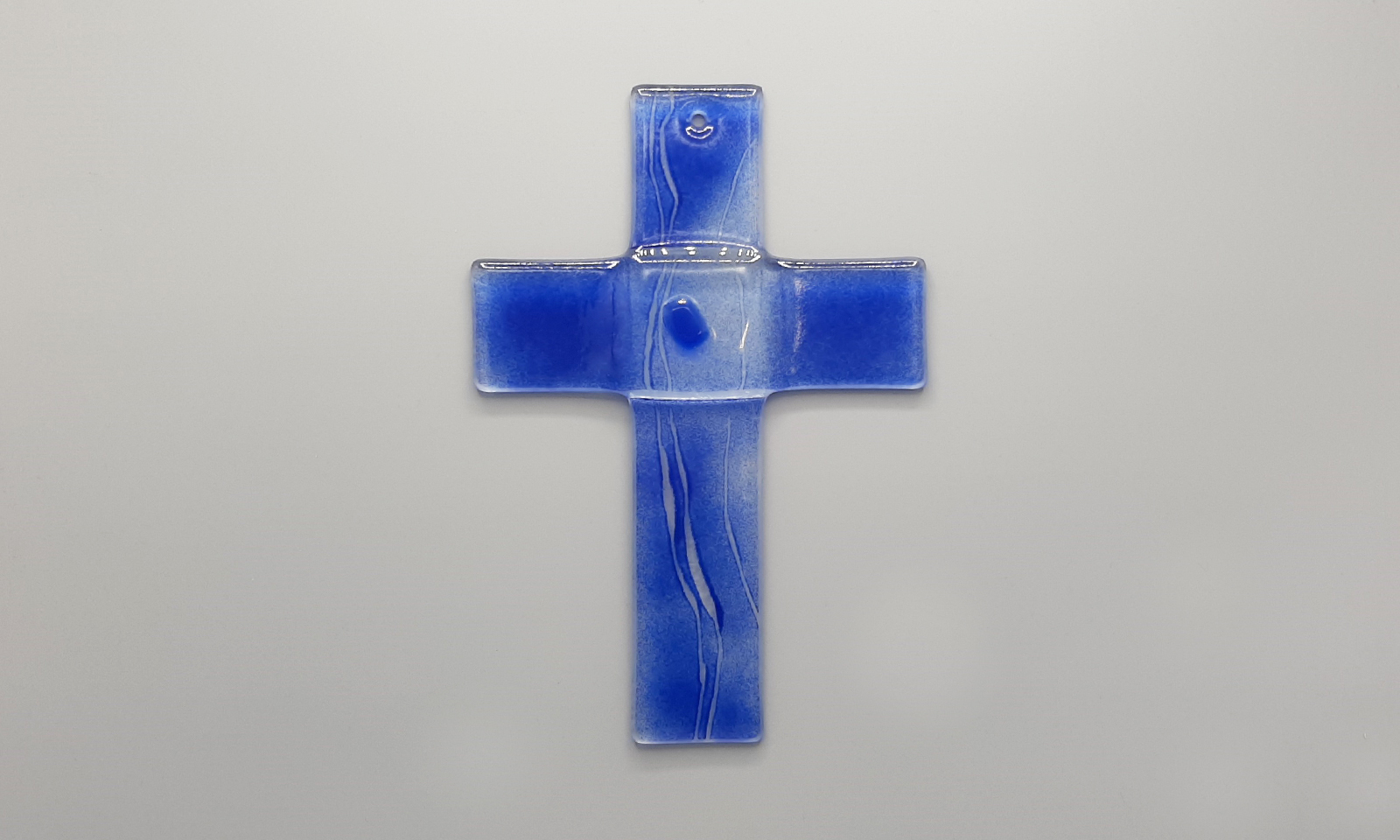 Glaskreuz blau Totale1
