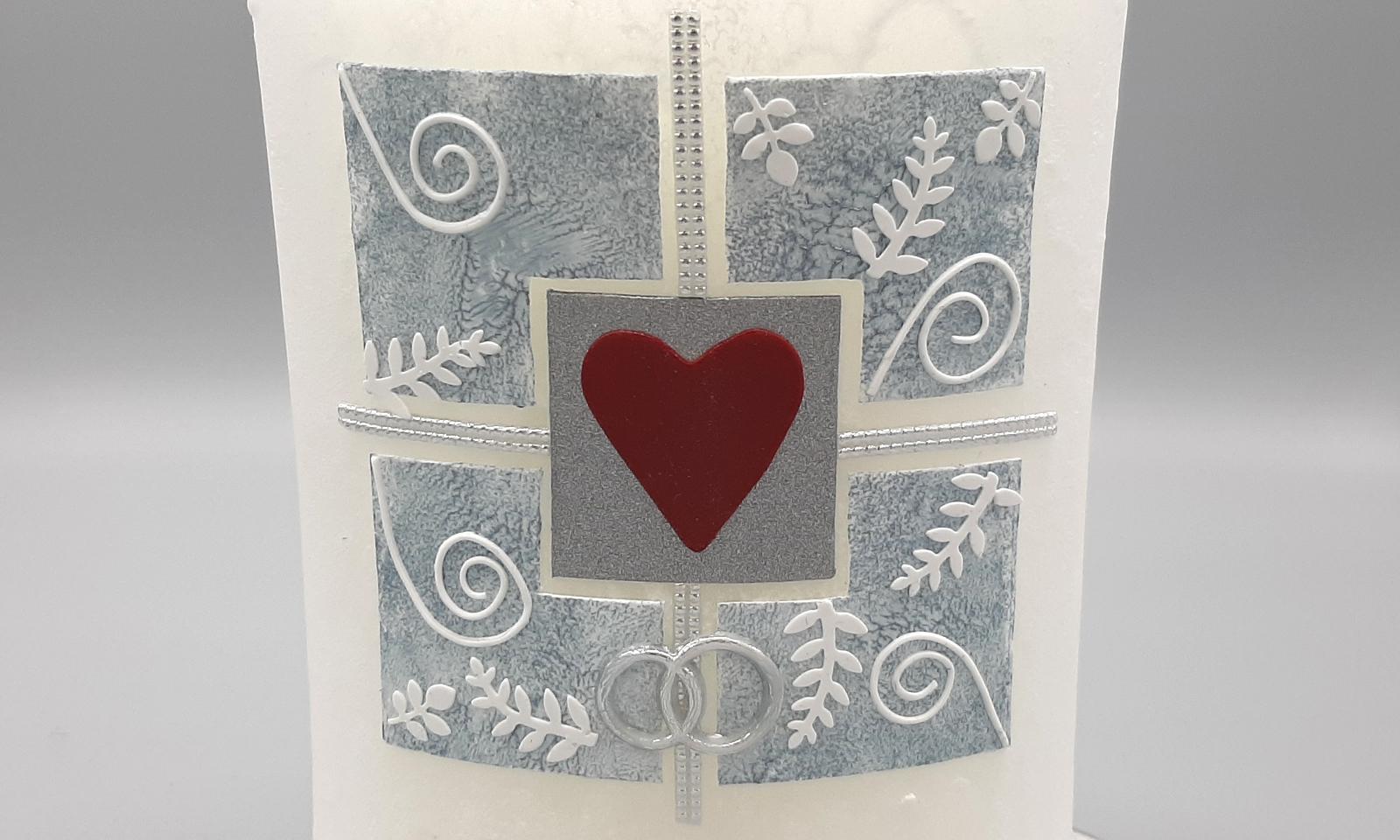 Handgefertigte Hochzeitskerze 1 Detail1
