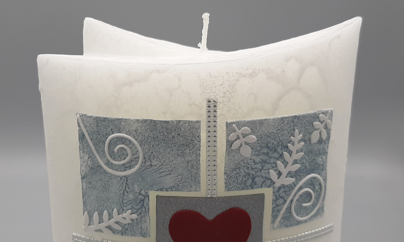 Handgefertigte Hochzeitskerze 1 Detail2