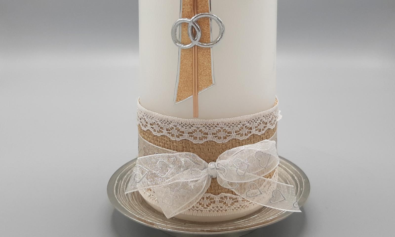 Handgefertigte Hochzeitskerze 2 Detail2
