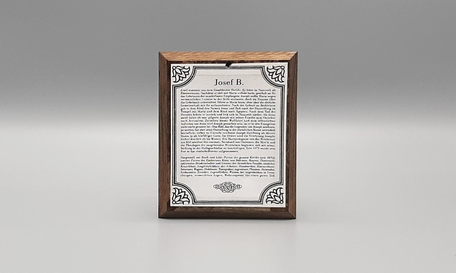 Hinterglasbild Hl Josef2