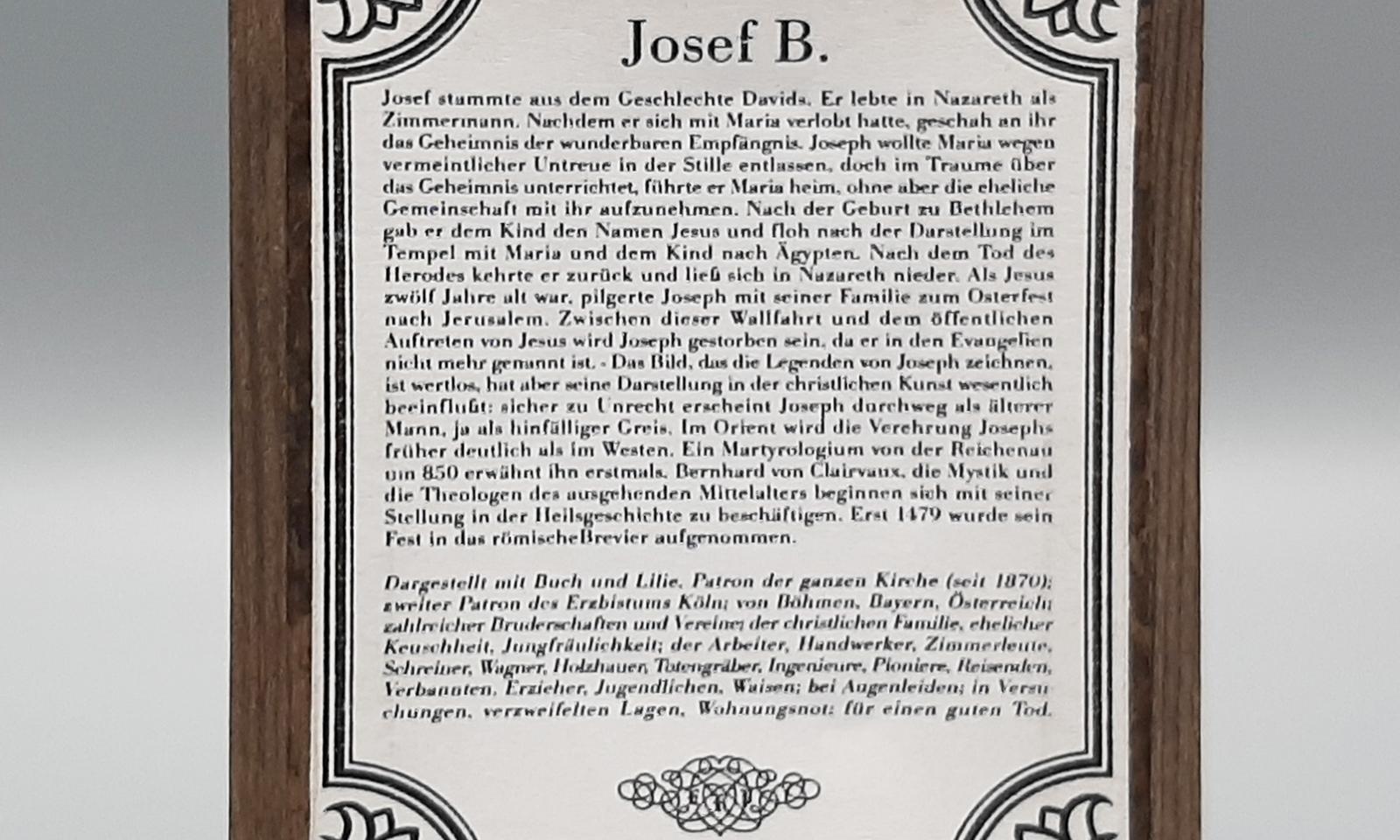 Hinterglasbild Hl Josef3