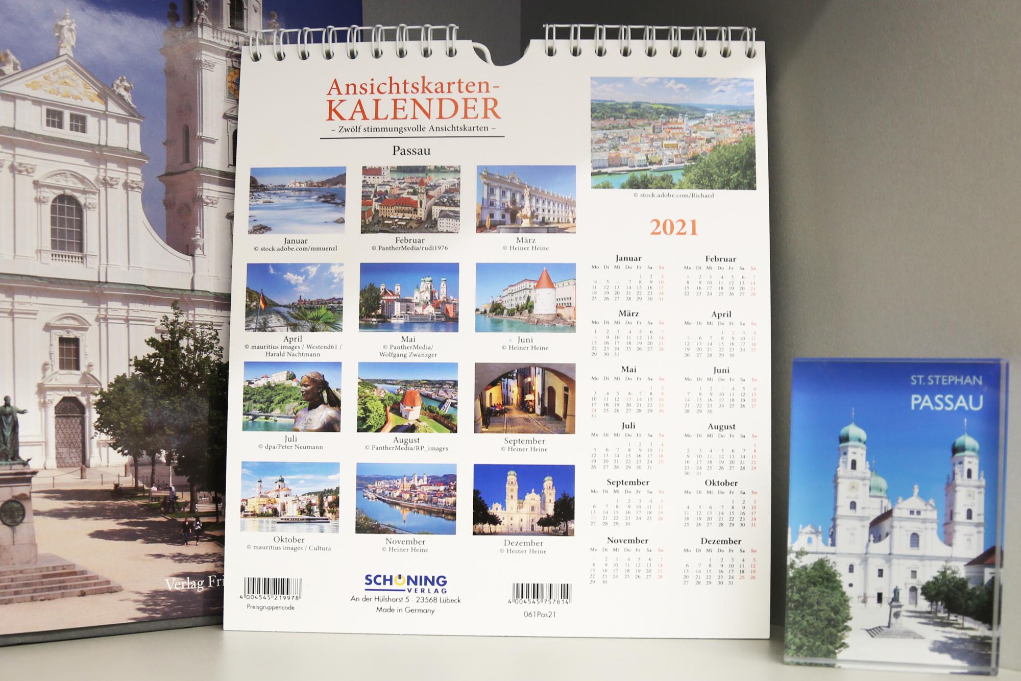 Kalender 2021 Ansichtskarten Rückseite