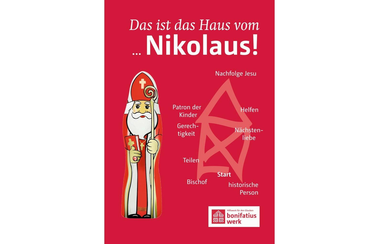 Nikolaus mit Postkarte