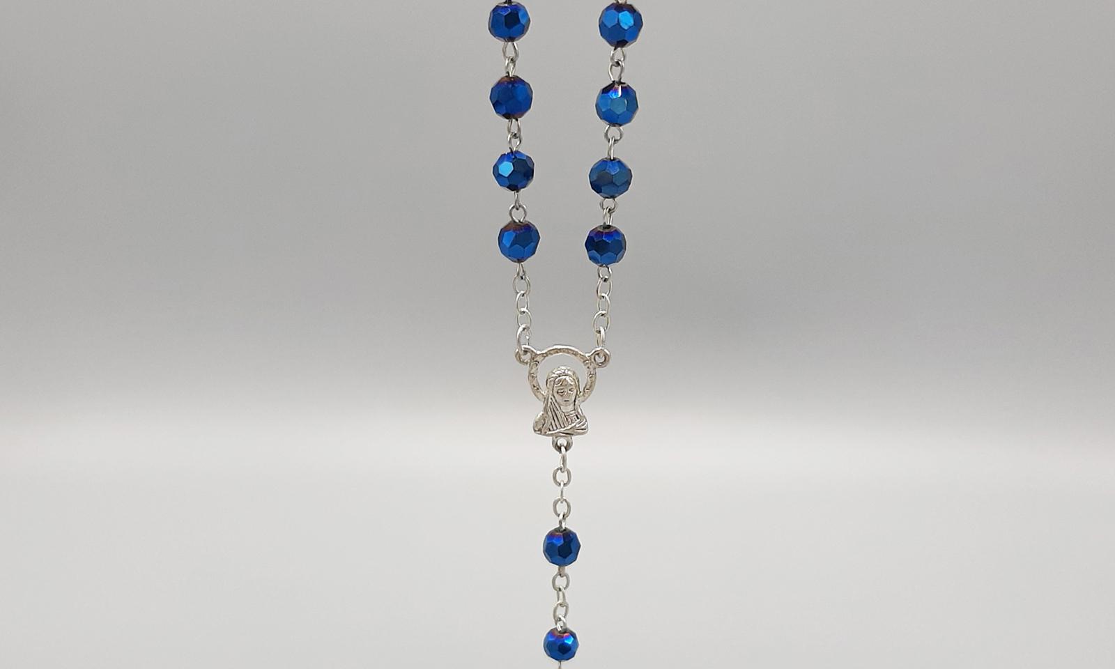 Rosenkranz blau Detail2