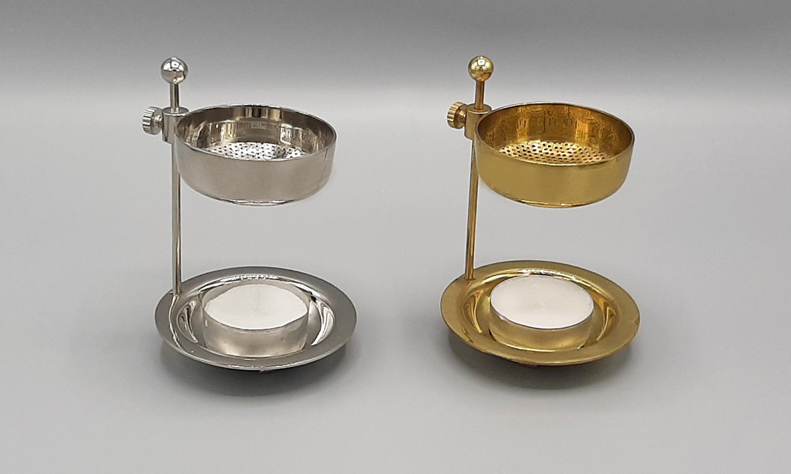 Weihrauchstövchen gold und silber